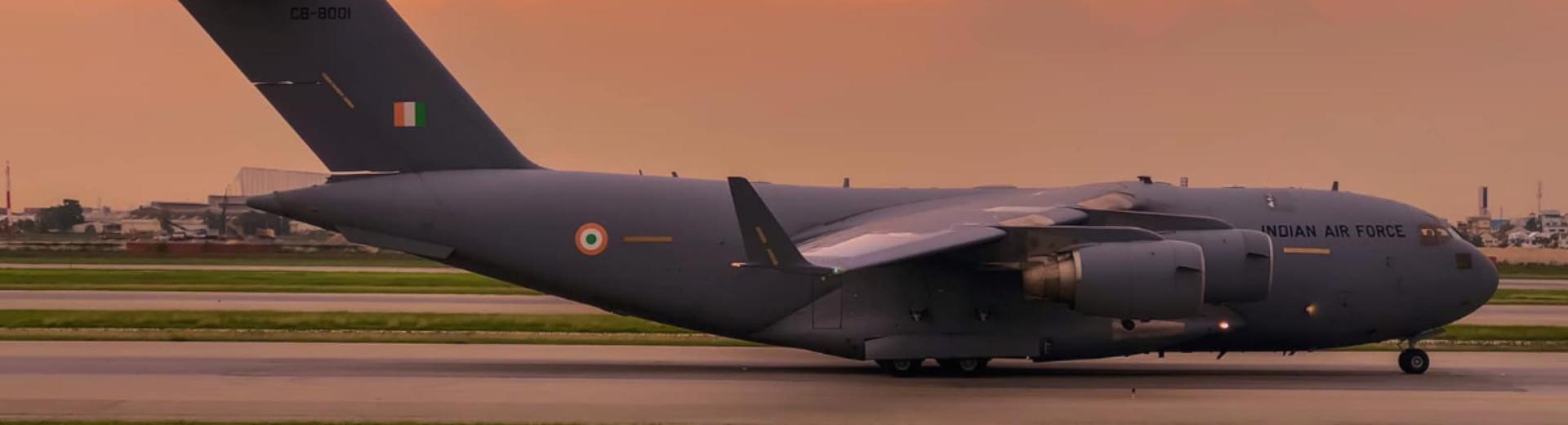 Inian Air Force C-17 at Suvarnabhumi Airport